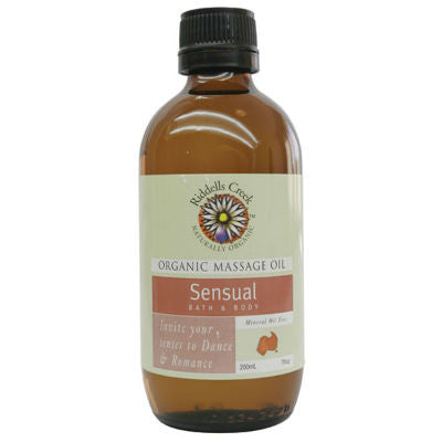 Riddells Creek Organic Massage Oil 200mL Sensual