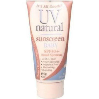 UV Natural Baby Sunscreen 150g SPF30+ Broad Spectrum