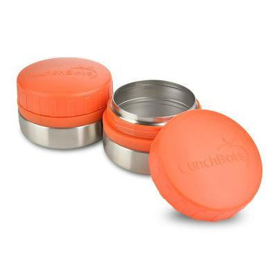 LunchBots Rounds 120mL Set of Two Stainless Steel Leak Proof