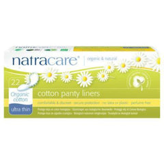 Natracare Cotton Panty Liners Ultra Thin 22 Pack