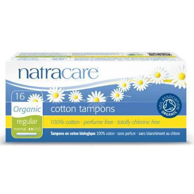 Natracare Cotton Tampons Regular 16 Pack (Applicator)