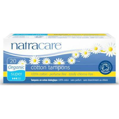 Natracare Cotton Tampons Super 20 Pack (NON-Applicator)