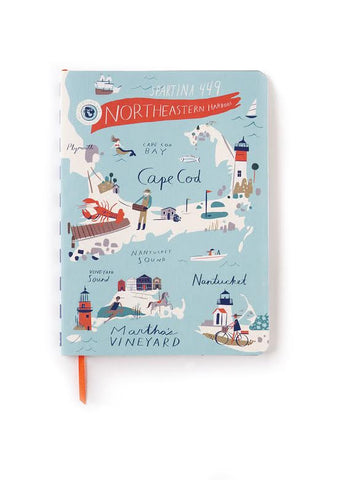 Northeastern Harbors Scarf Ruled Notebook