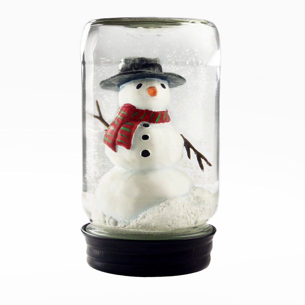 Snow Globe Snowman In Jar
