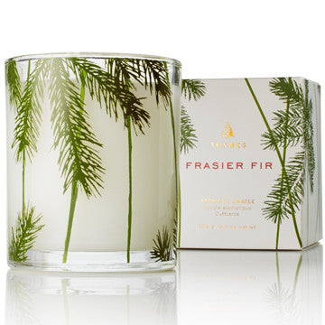 Frasier Fir: Poured Candle Pine Needle Design