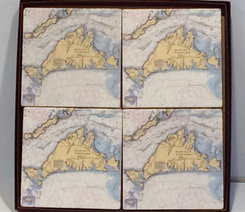Martha's Vineyard Coasters - 4 piece