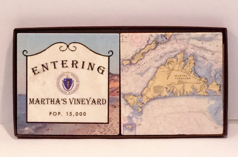 Copy of Martha's Vineyard Coasters - 2 piece