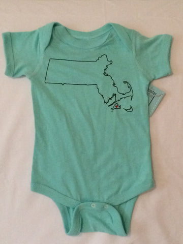 Heart on MV Onesie