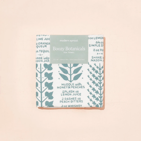 Tea Towel: Boozy Botanicals