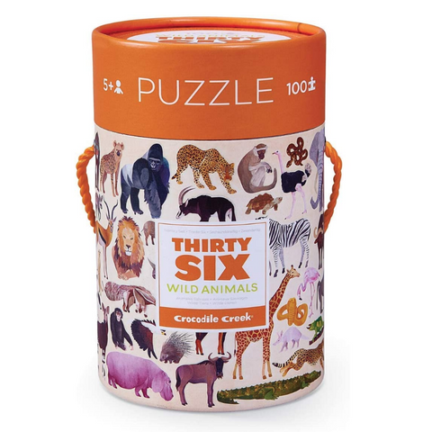 Thirty-Six Wild Animal Puzzle