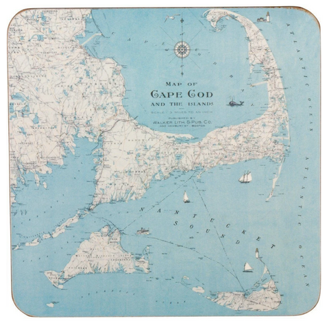 Cape Cod Nautical Coasters