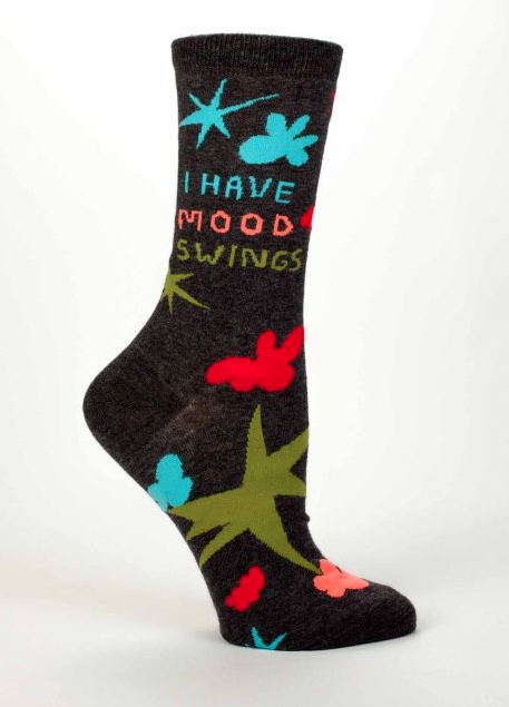 Women's Crew Socks: Mood Swings