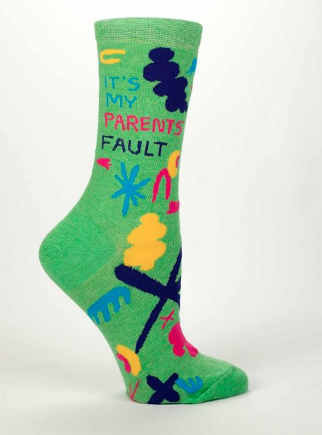 Women's Crew Socks: It's My Parents' Fault