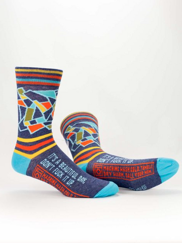 Men's Crew Socks: Beautiful Day
