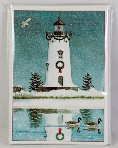 Lighthouse Boxed Christmas Cards