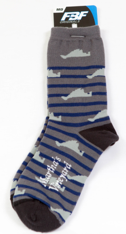 MV Thin Stripe Map Sock
