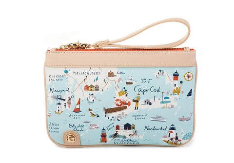 Northeastern Harbors Zip Wristlet