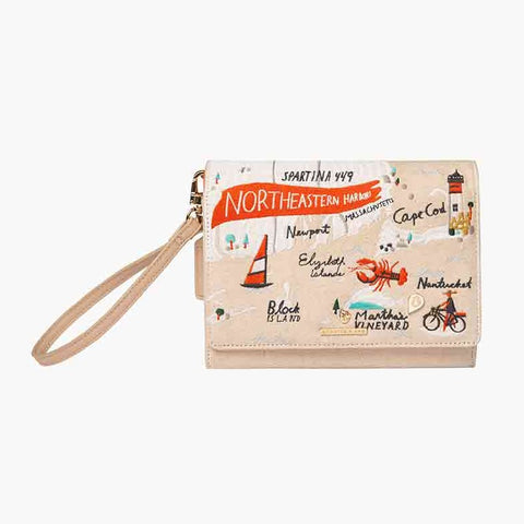 Northeastern Harbors Embroidered Crossbody