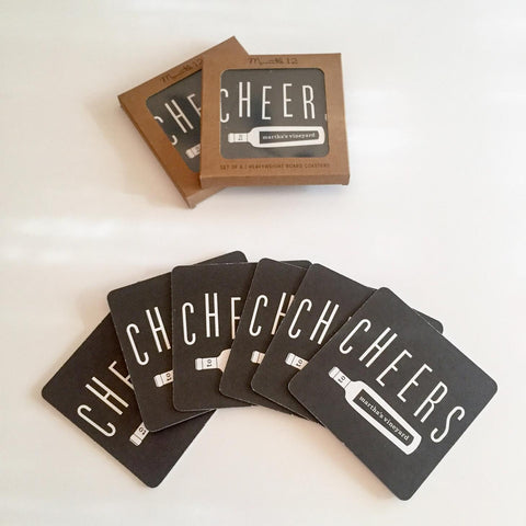Cheers Martha's Vineyard Coasters Set of 6