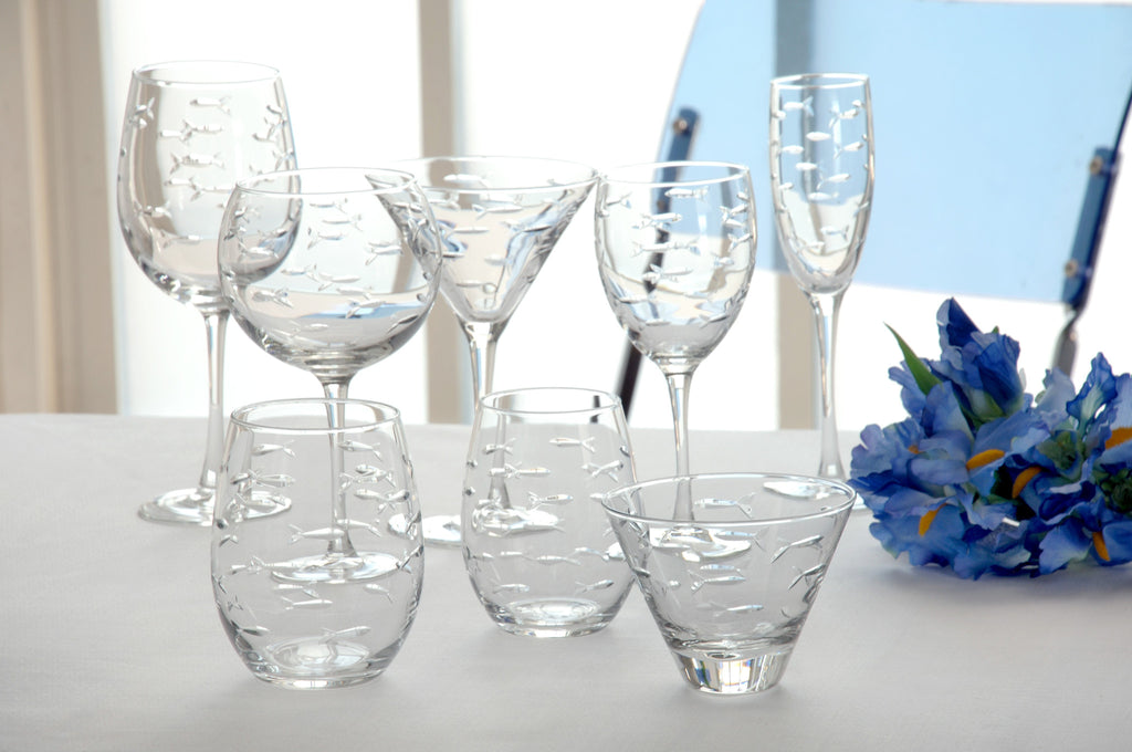 School of Fish Glassware