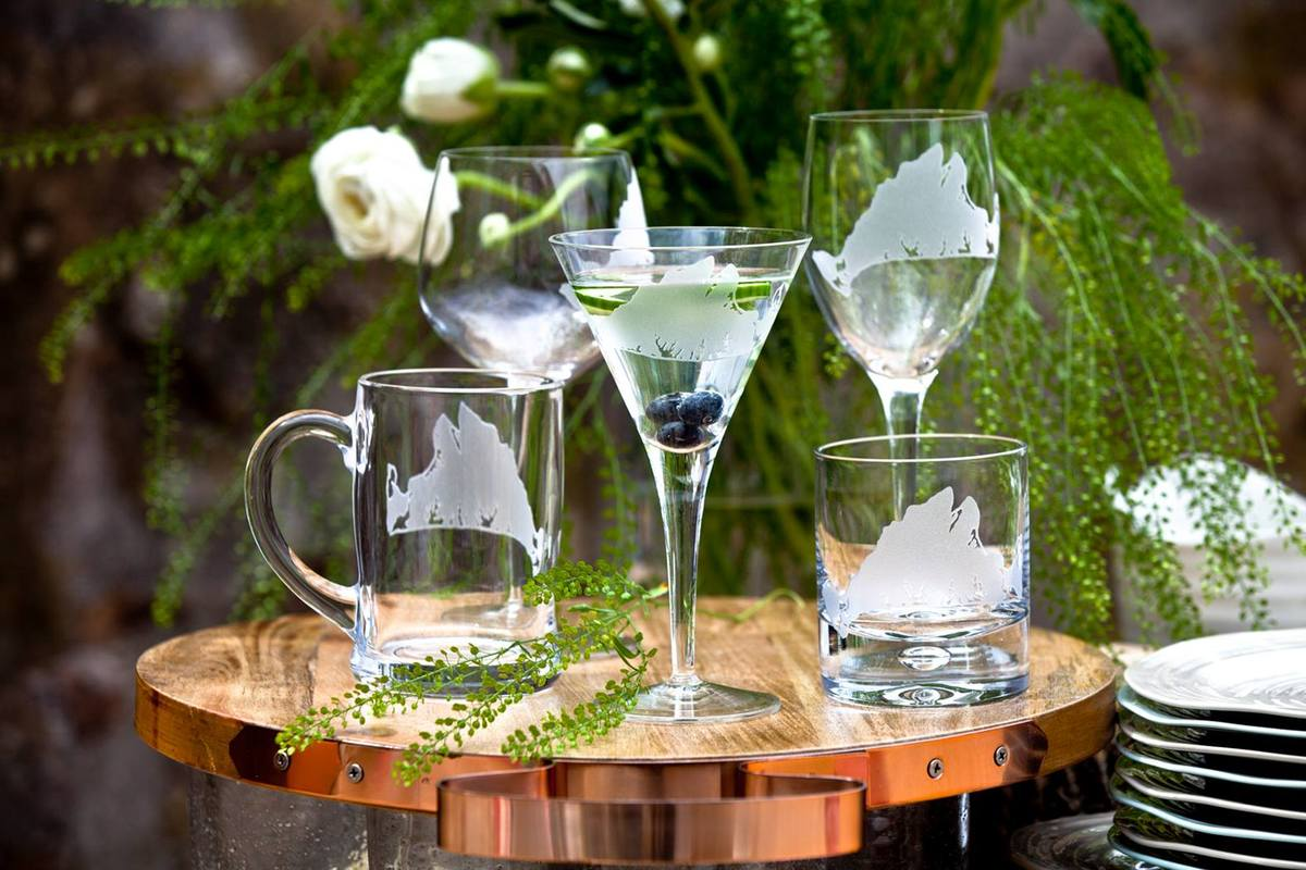 Martha's Vineyard Etched Glassware