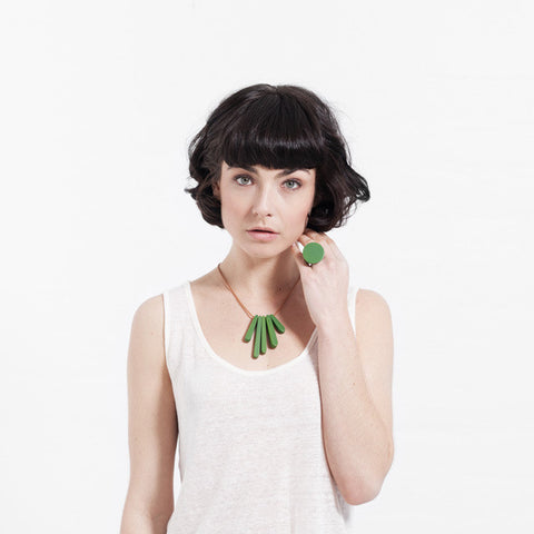 Bloom Necklace - Emerald Green