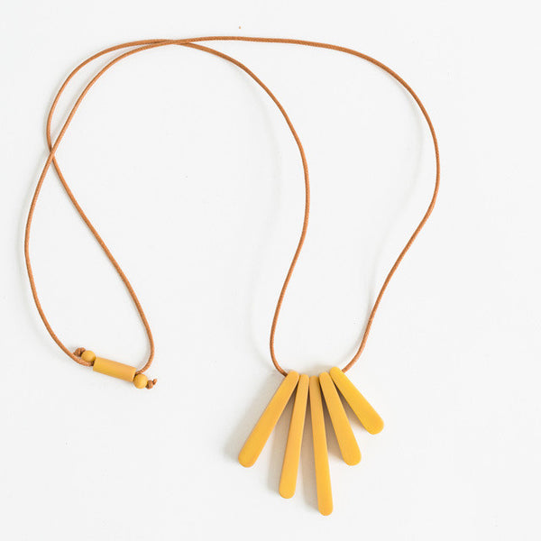 Bloom Necklace - Mustard