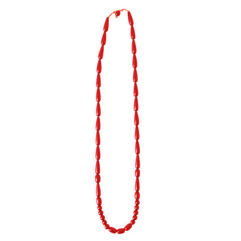 Seed Necklace - Red