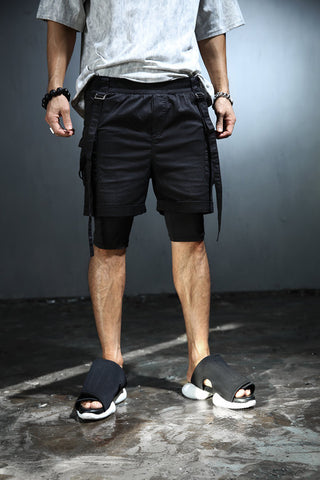 mens denim/shorts shorts men/ board shorts men /mens short shorts/ bohemian clothing / wide pants/Men's cargo pocket layerd short pants