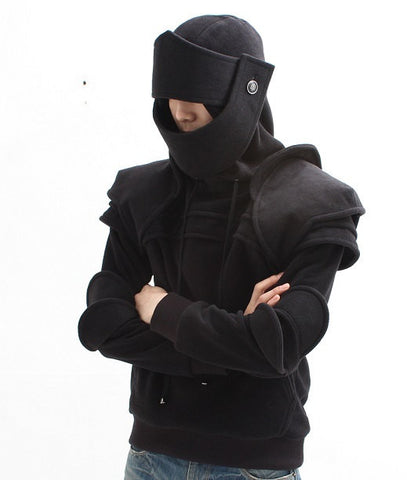 Black Duncan Armored Knight Hoodie(100% Handmade) Made To Order