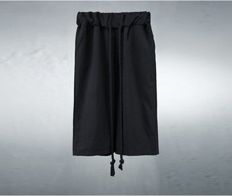 Mens Rope String Cool Wide Short Pants