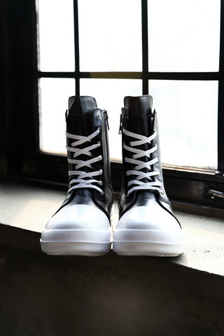 Mono Leather High-top Sneakers