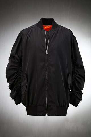 Shirring Flight Jacket