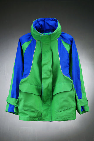 Colorful Shell Over-size Parka