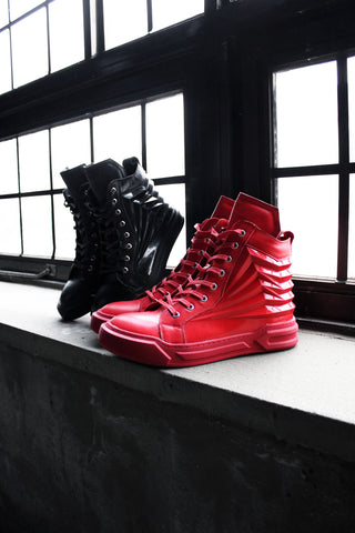 Pleats High-Top Sneakers / Unisex Adult Shoes / hiphop / Casual Shoes / mens shoes / sneakers shoes
