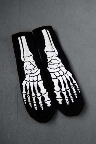 Skeleton Socks / Cotton Socks / skull logo / mens shoes / mens vintage / festival cloth