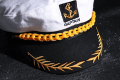 Mens Accessories/gift fro him/ embroidered hat/Mens captain marine hat