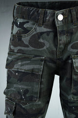 mens pants/vintage pants / stretch / vintage jeans /jean pants/Men's camo washing cargo skinny Pants UrbanChic