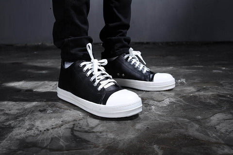 Mono converse low cut leather shoes
