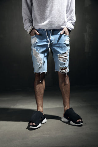 mens jean shorts/mens board shorts /ripped jeans/shorts for men/hipster shorts / joggers short pants/Men's hard damage bending denim shorts
