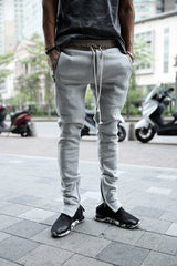 vintage pants / mens pants / Gentleman pants / denim jeans/Men's inside zipper training pants
