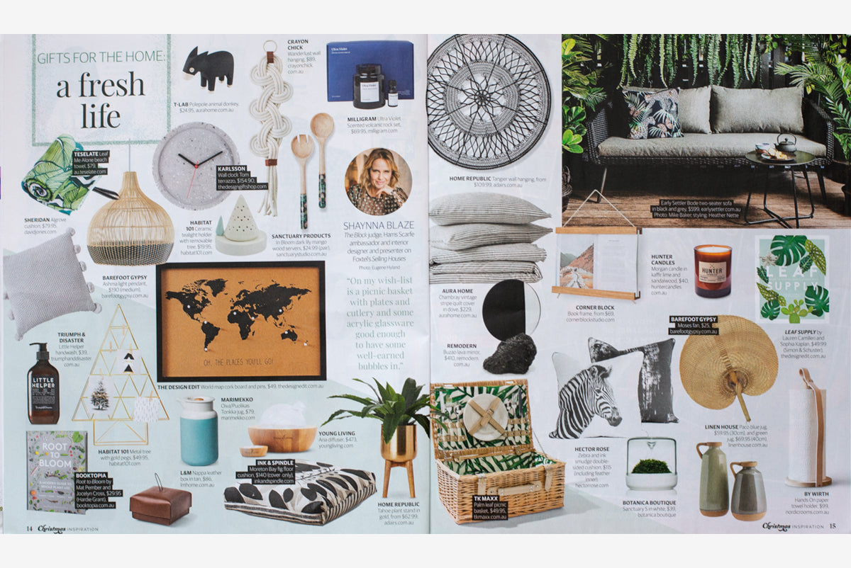 Hector Rose Zebra Cushion in Herald Sun Gift Guide