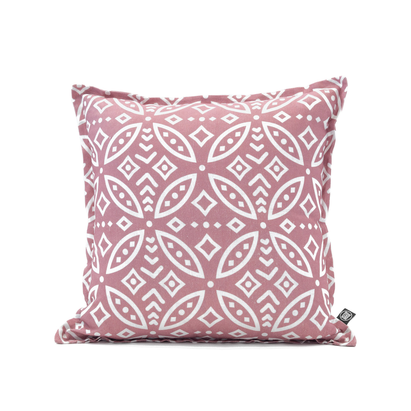 linen cushion cover square moroccan pink