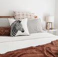 ZEBRA & INK SMUDGE CUSHION