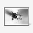 Rose floral wall art print black and white botanical photography with black frame