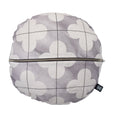 linen cushion cover round moroccan grey back