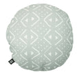 linen cushion cover mudcloth round in sage