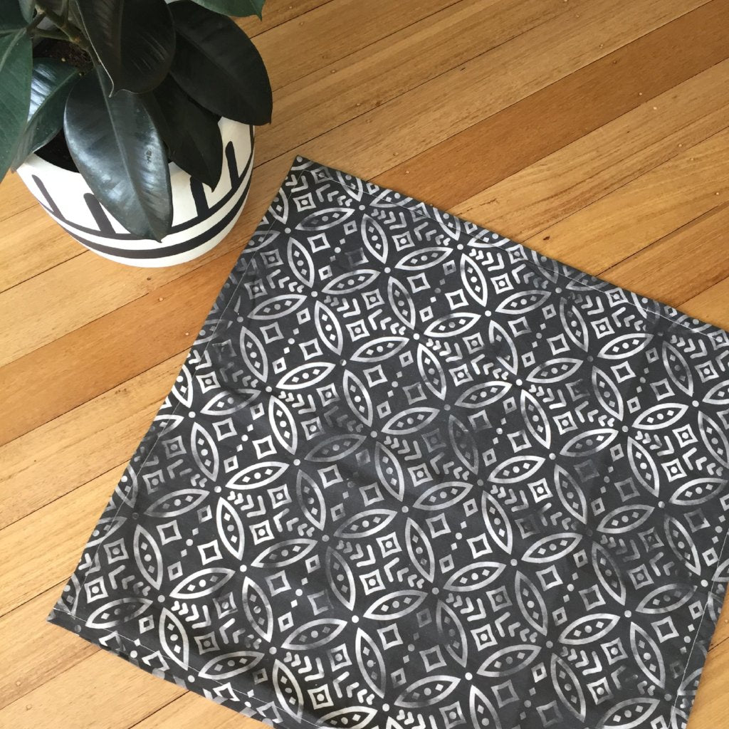 SAMPLE SALE - 'NOMAD' LINEN FLOOR CUSHION - BLACK