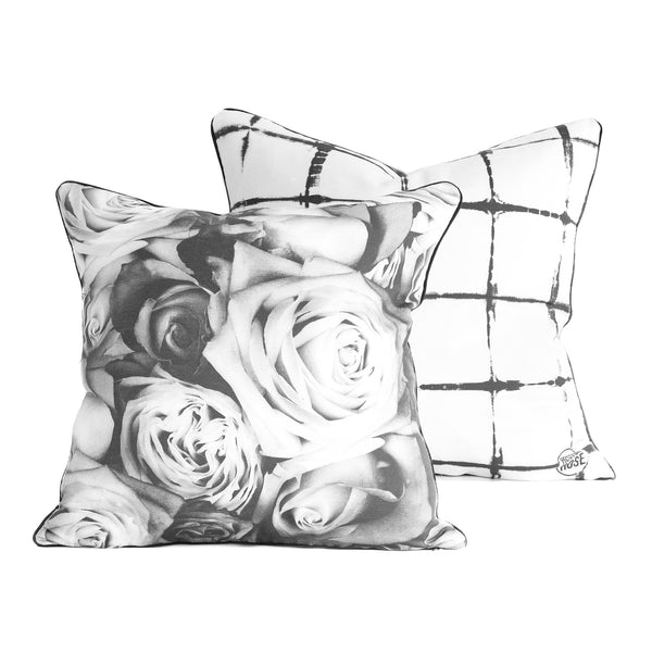 floral and shibori cushion cover square
