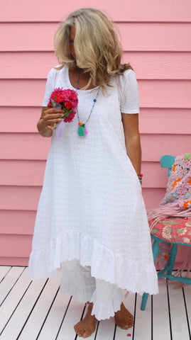 Spring Gypsy Broderie Anglais Farm Girl Dress